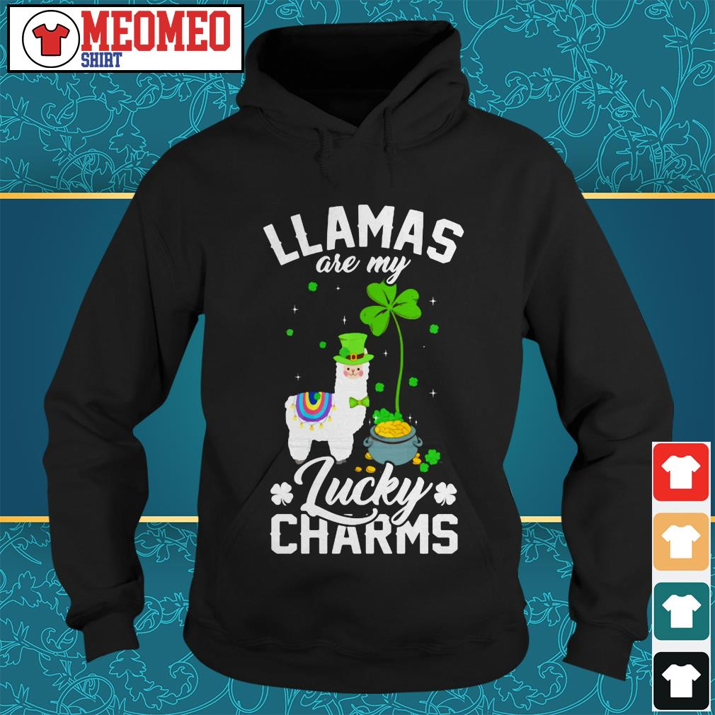 St Patrick's Llamas are my lucky charms Hoodie