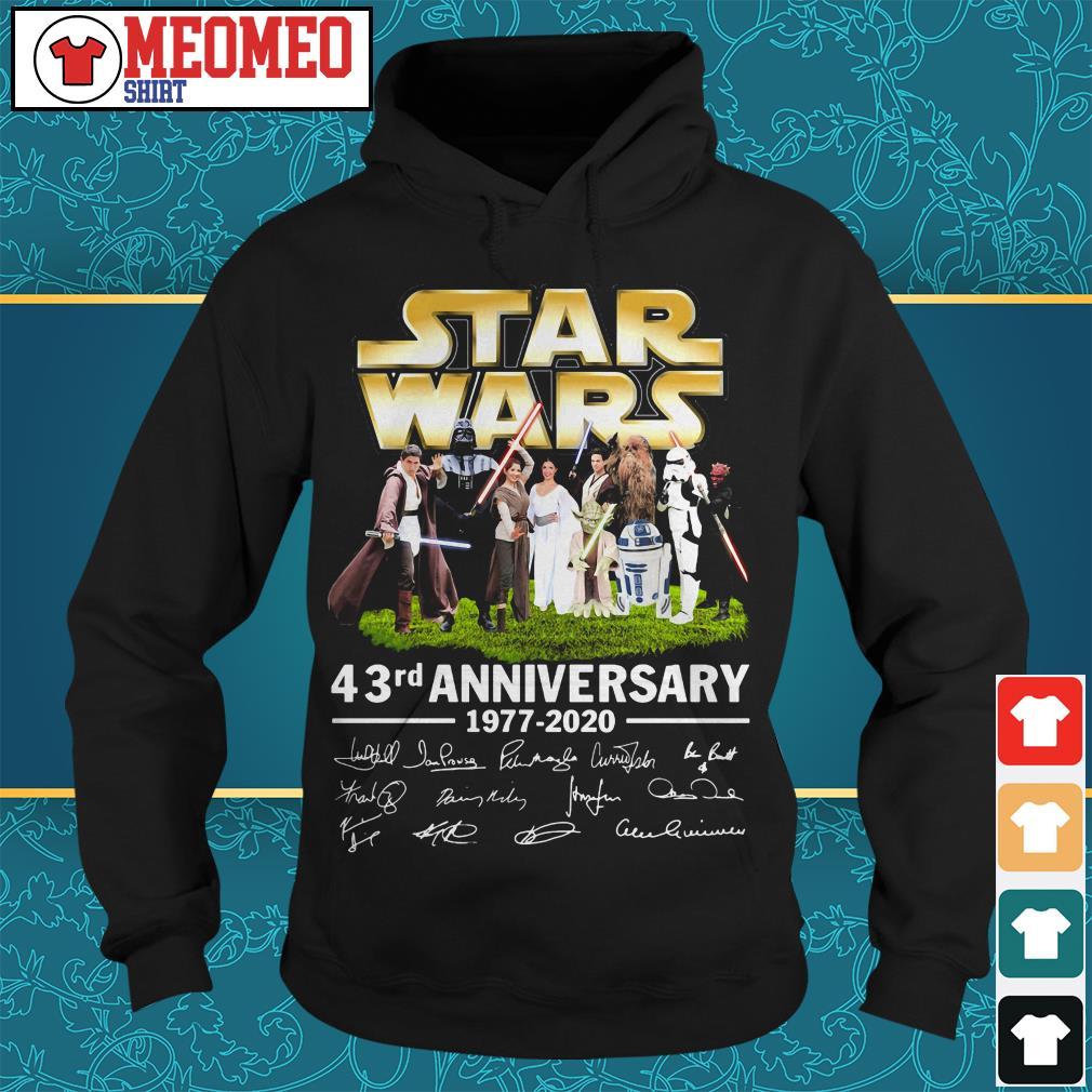 Star Wars 43rd anniversary 1977-2020 signatures Hoodie