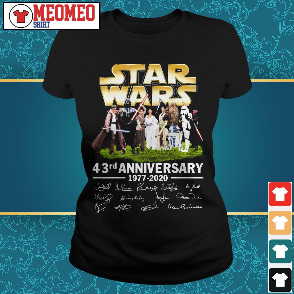 Star Wars 43rd anniversary 1977-2020 signatures ladies tee