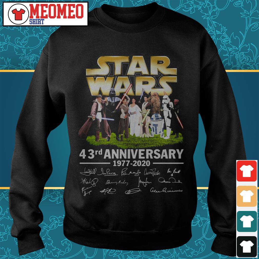 Star Wars 43rd anniversary 1977-2020 signatures Sweater