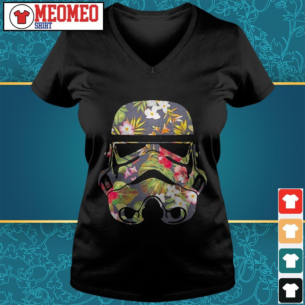 Star Wars Battlefront flower V-neck t-shirt