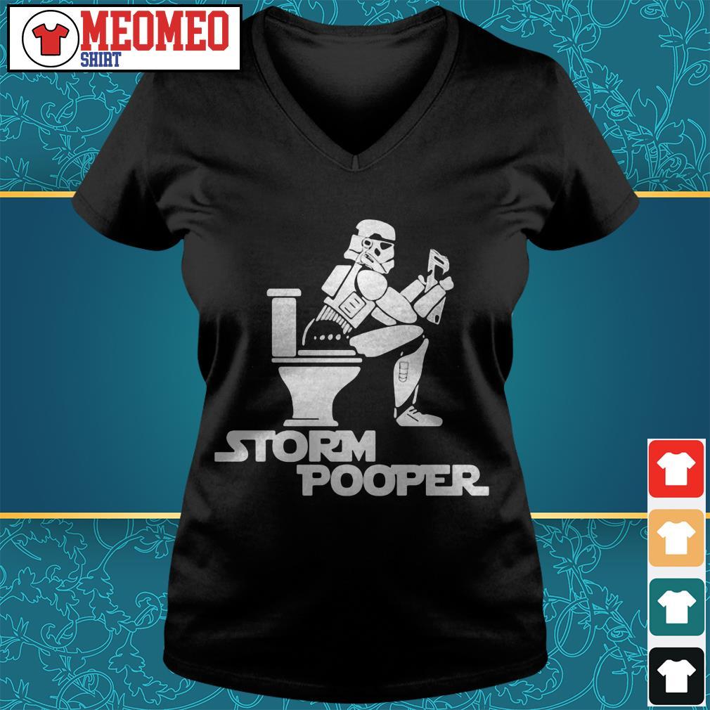 Star Wars Battlefront Storm Pooper toilet newspaper V-neck t-shirt