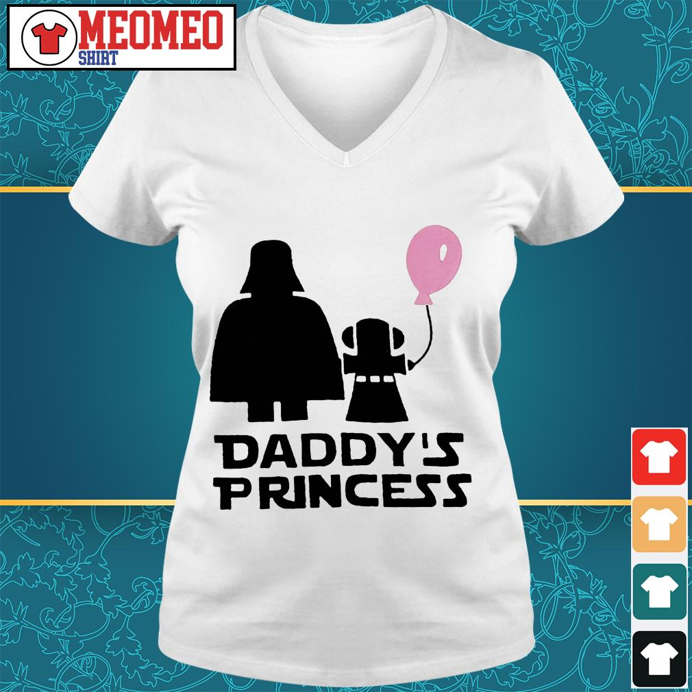 Stars war daddy's princess V-neck t-shirt