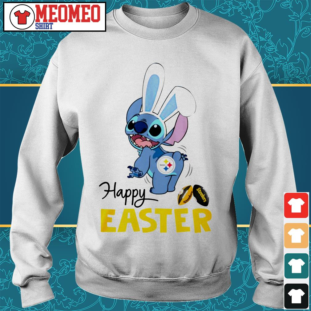Stitch bunny Pittsburgh Steelers happy easter Sweater