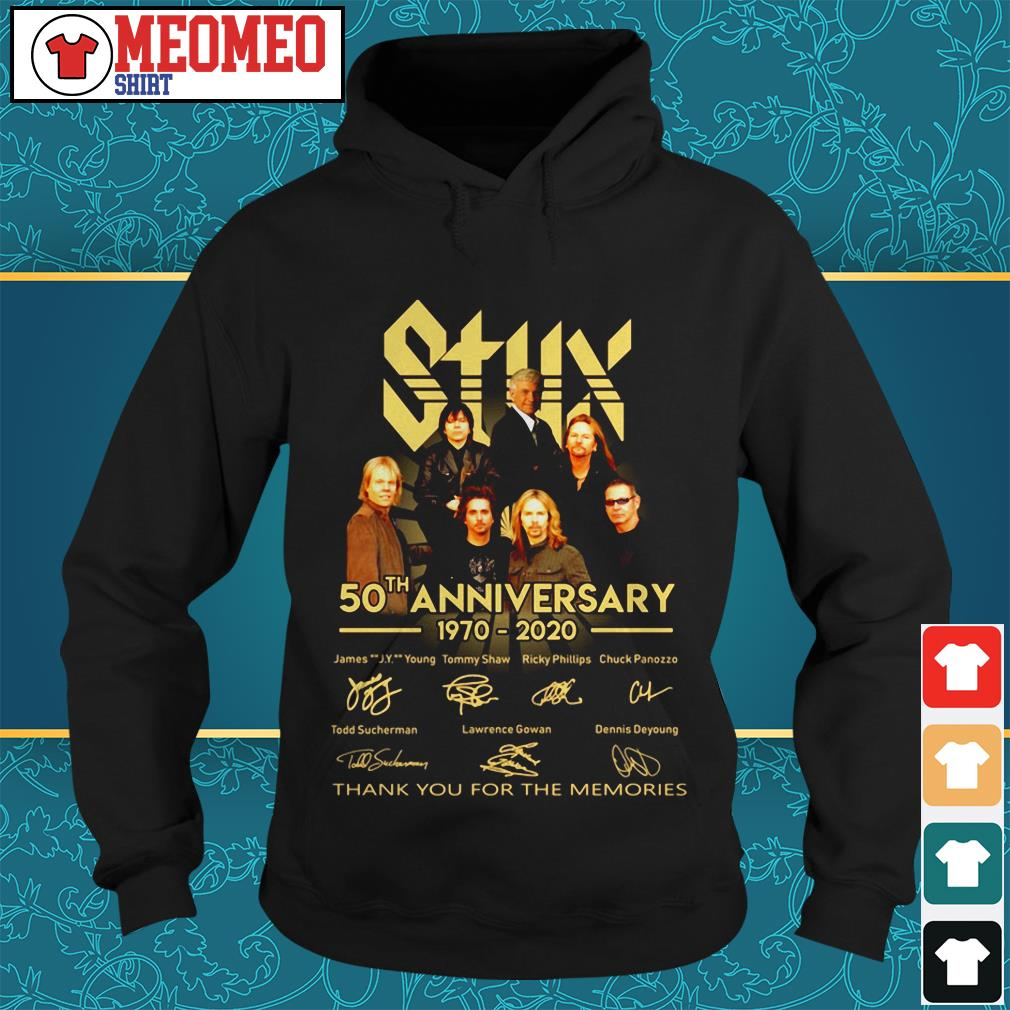 Styx band 50th anniversary 1970-2020 signatures thank you for the memories Hoodie