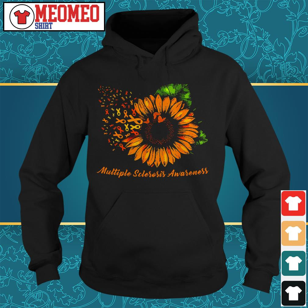 Sunflower cancer multiple sclerosis awareness Hoodie