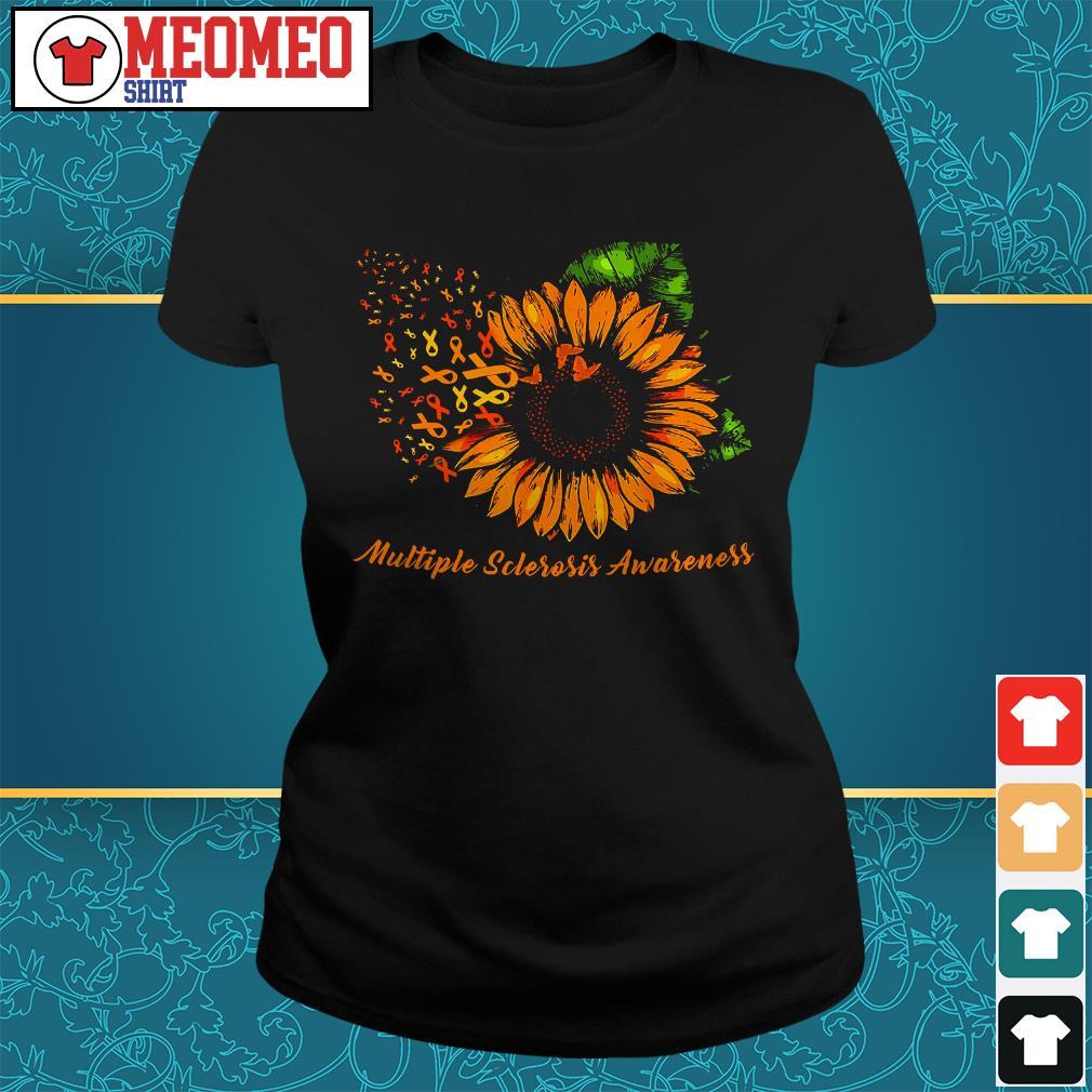 Sunflower cancer multiple sclerosis awareness ladies tee
