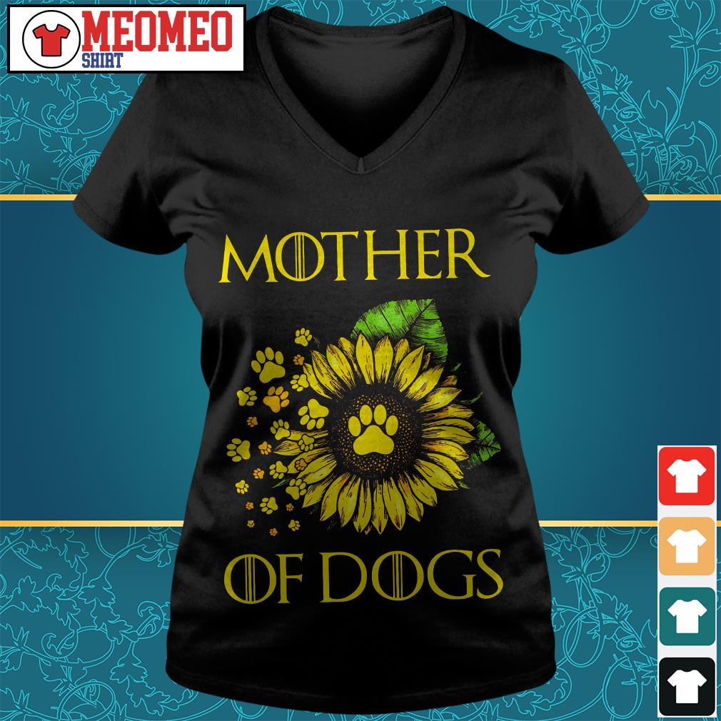 Sunflower mother of dogs V-neck t-shirt