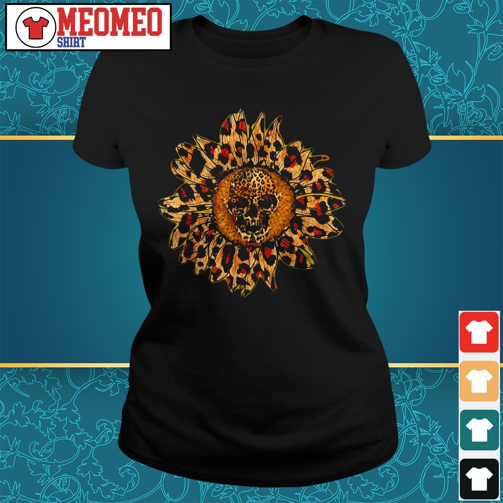 Sunflower skull ladies tee