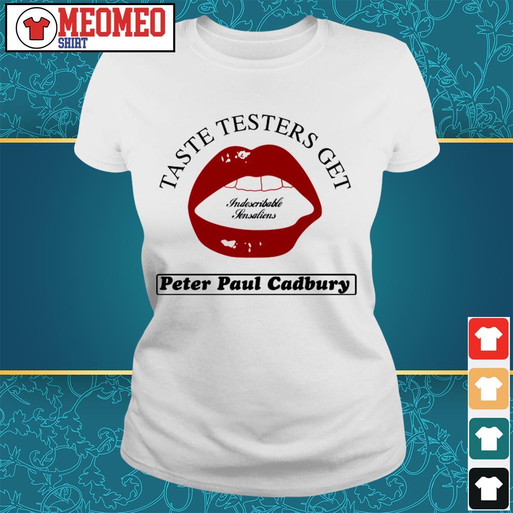 Taste testers get Peter Paul Cadbury Ladies tee