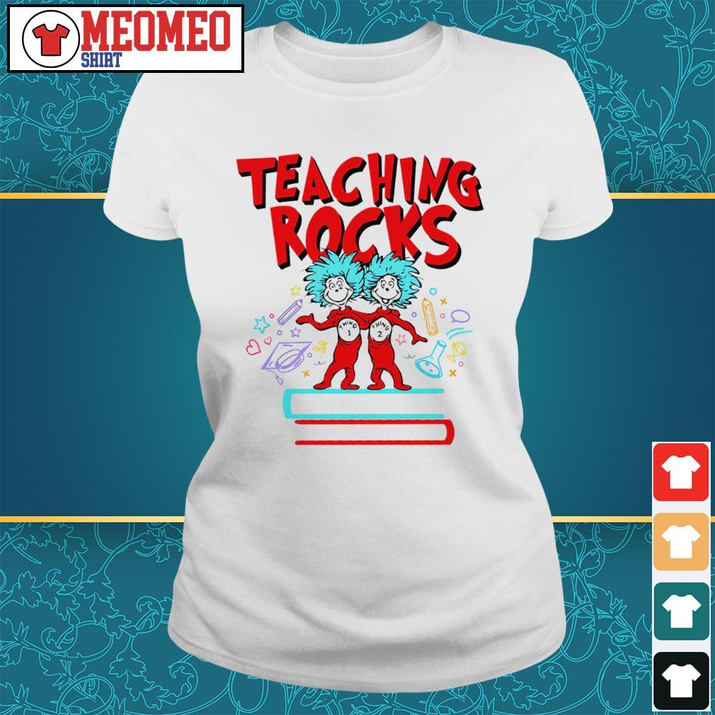Teaching rocks thing 1 and thing 2 Ladies tee