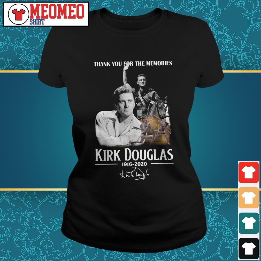 Thank you for the memories Kirk Douglas 1916-2020 signature Ladies tee