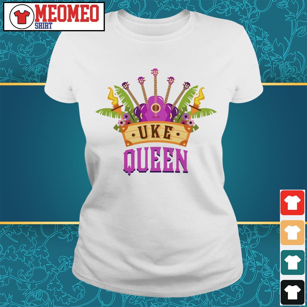 Ukulele Uke Queen Ladies tee