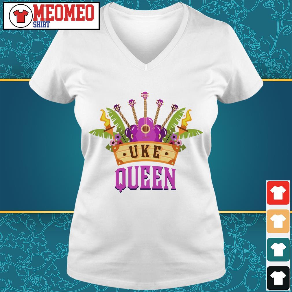 Ukulele Uke Queen V-neck t-shirt