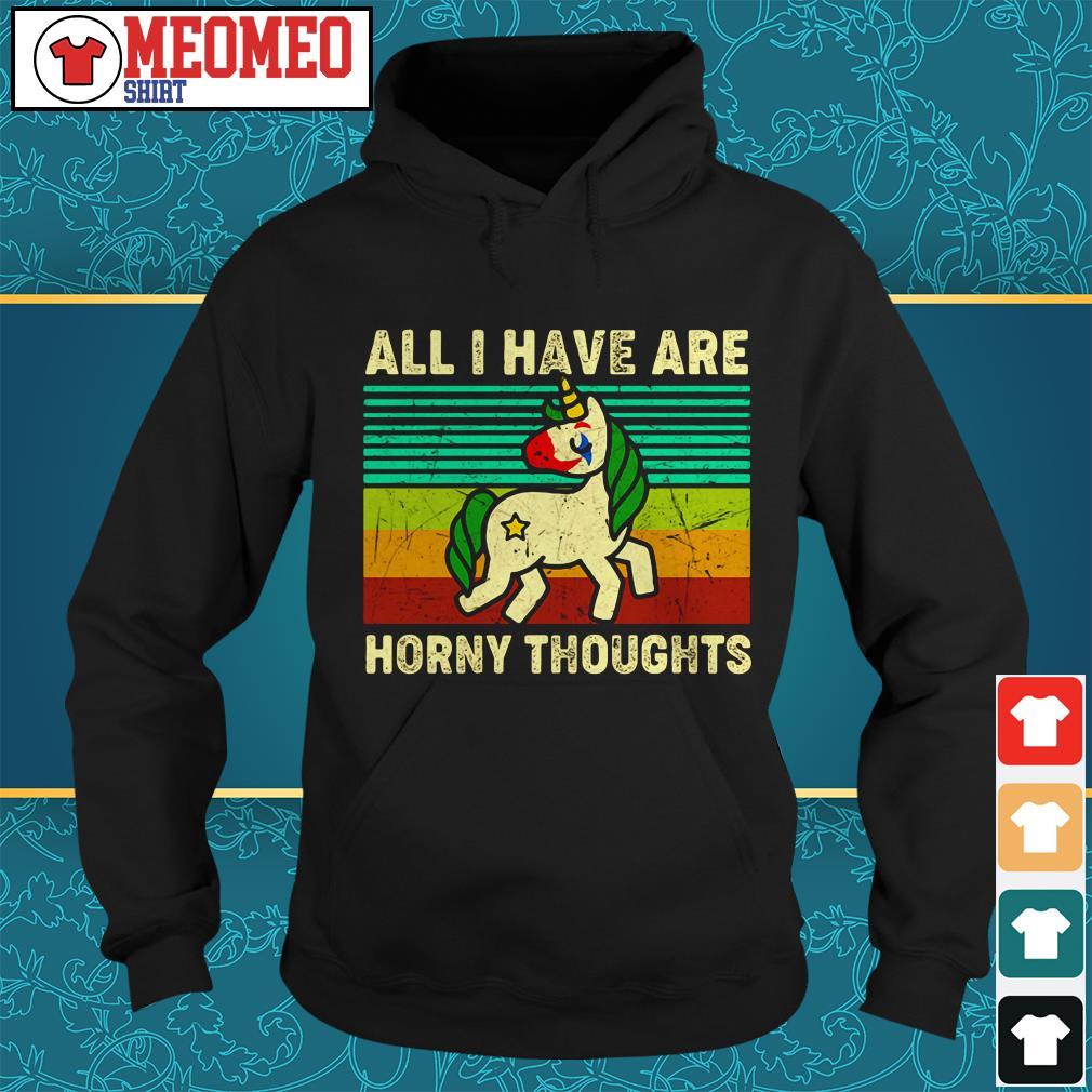 Unicorn all I have are horny thoughts Hoodie