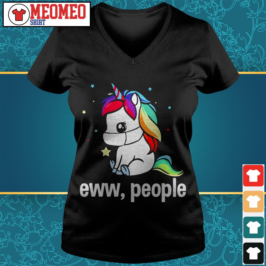 Unicorn eww people V-neck t-shirt