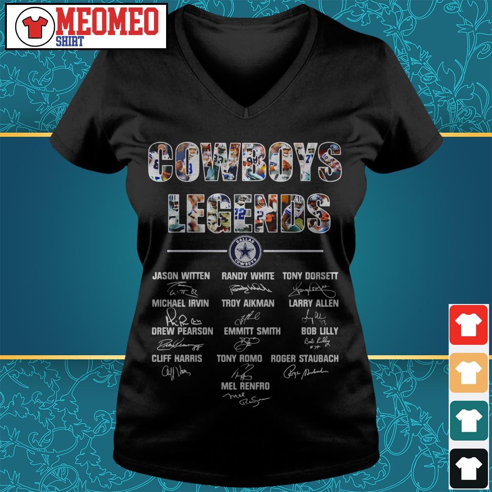 Unisex Dalas Cowboys signatures V-neck t-shirt