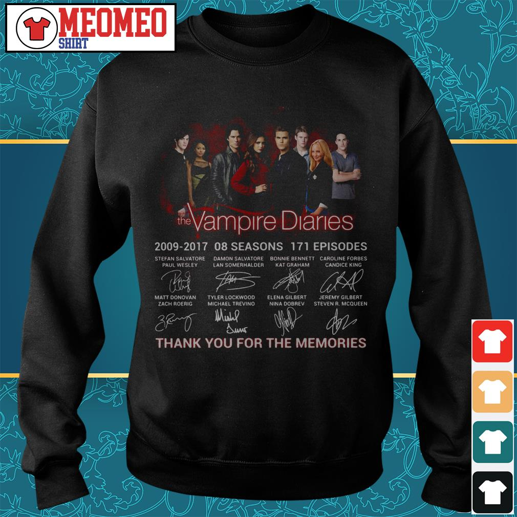 The Vampire diaries 2009-2017 08 seasons 171 episodes signatures thank you for the memories Sweater