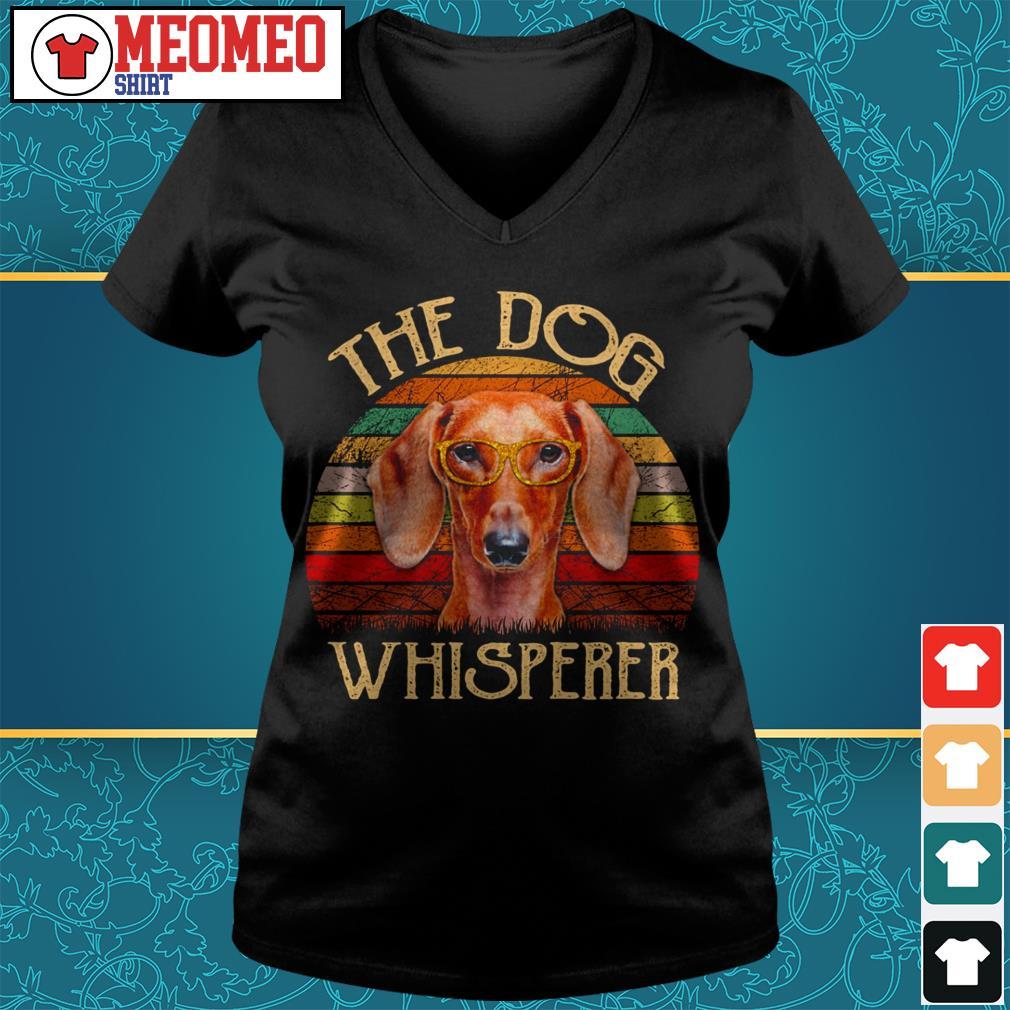 Vintage the dog Whisperer V-neck t-shirt