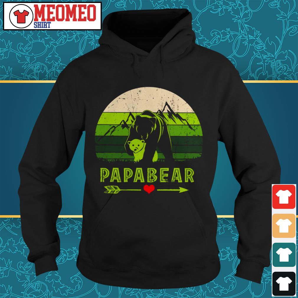 Vintage mountain Papabear Hoodie