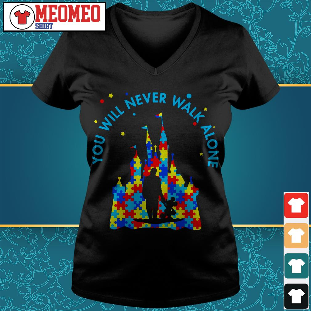 Walt Disney you will never walk alone V-neck t-shirt