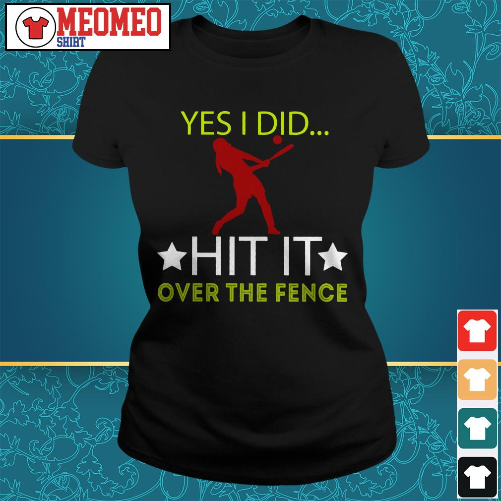Yes I did hit it over the fence ladies tee