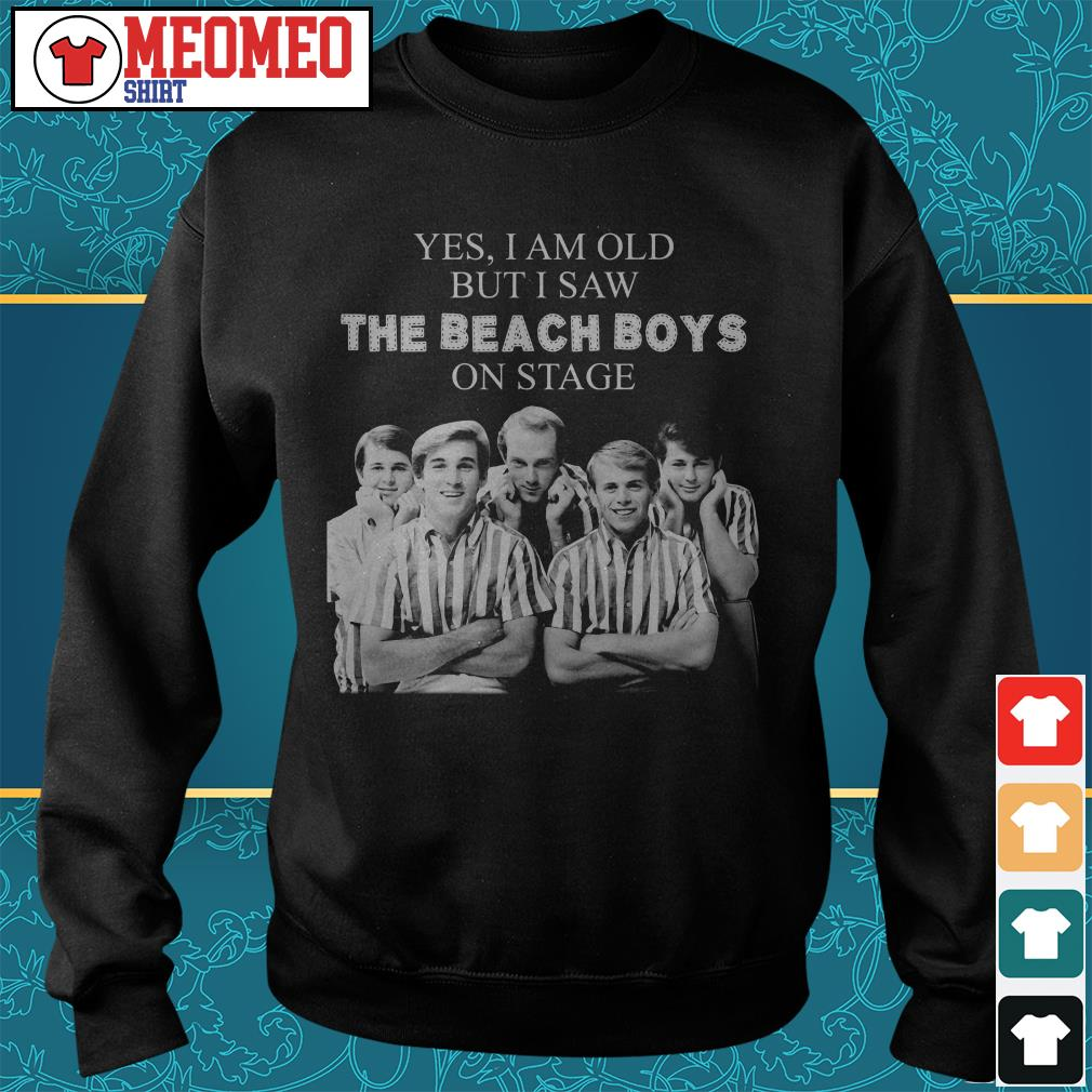 Yes I am old but I saw the Beach Boys on stage Sweater