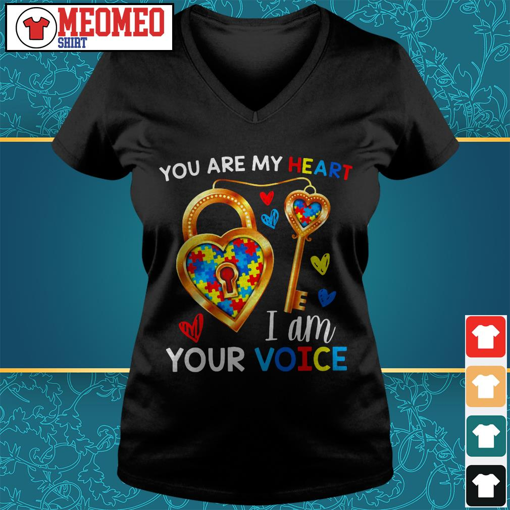 You are my heart I am your voice V-neck t-shirt